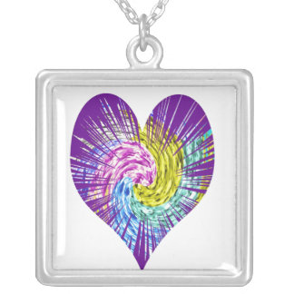 POKER Star - HEART Fans Square Pendant Necklace