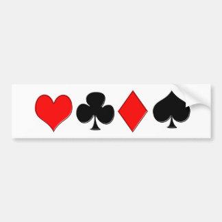 Poker Suits Bumper Sticker Car Bumper Sticker