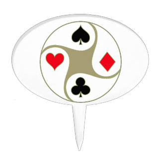 Poker Suits Cake Toppers