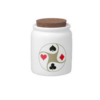 Poker Suits Candy Jar