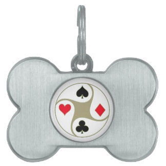 Poker Suits Dog Tag Pet Name Tag