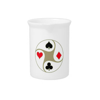 Poker Suits Drink Pitcher