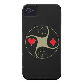Poker Suits iPhone 4 Barely There Universal Case Case-Mate iPhone 4 Case