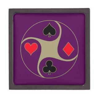 Poker Suits Medium Jewelry Box