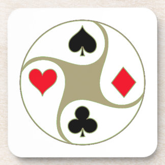 Poker Suits Square Drink Coaster