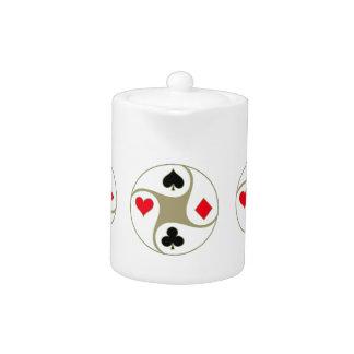 Poker Suits Tea Pot