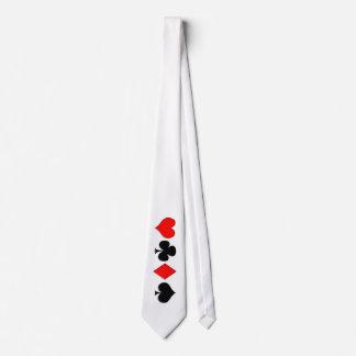 Poker Suits Tie