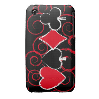 Poker Suits with swirls ipod touch case