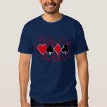 Poker Swirls Tee Shirts