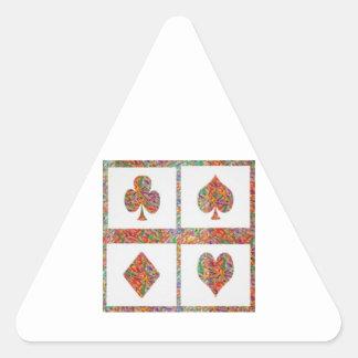 Poker Symbol Art - Fan Club - Multicolor choices Triangle Stickers