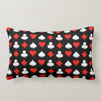 Poker Symbols Lumbar Pillow