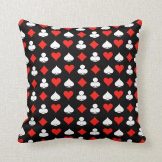 Poker Symbols Throw Pillow