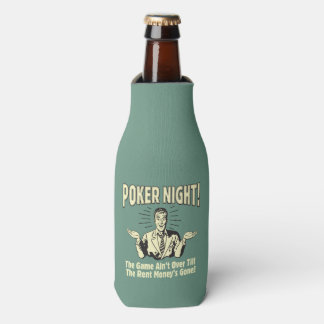 Poker: The Game Ain't Over Bottle Cooler