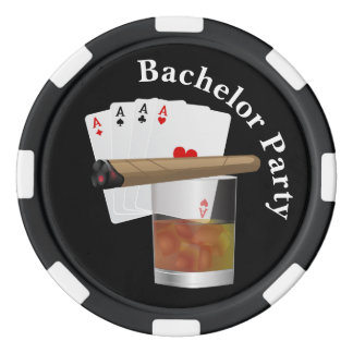 Poker Theme Bachelor Party Invite Poker Chip Set Of Poker Chips