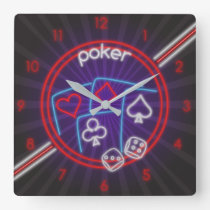Poker Time Wall Clock