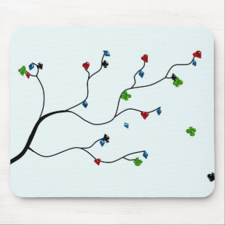 Poker tree modern design mouse pad