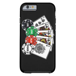 Póker v1 funda de iPhone 6 tough