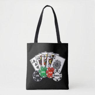 Poker v1 tote bag