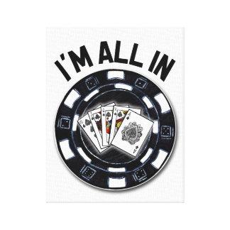 Poker v3 canvas print