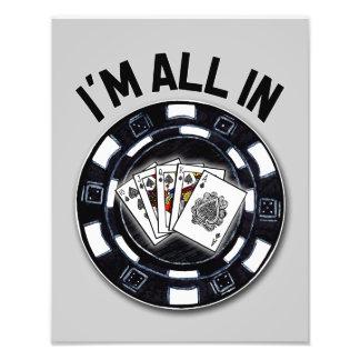 Poker v3 photo print