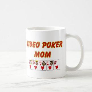 Póker video; Mamá video del póker Taza Básica Blanca