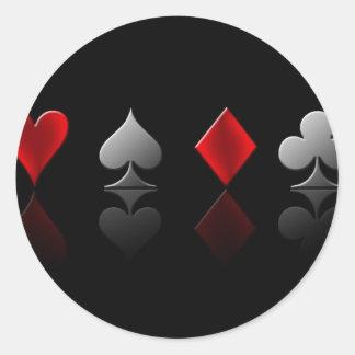 poker-wallpaper-6 classic round sticker