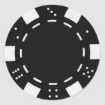 pokerchip sticker black