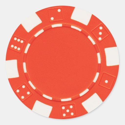 pokerchip sticker orange