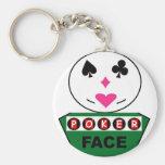 pokerface llavero personalizado