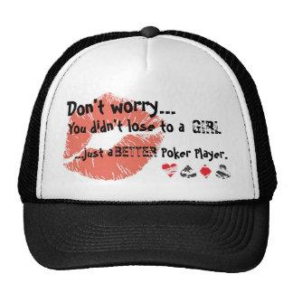 pokergirl trucker hat