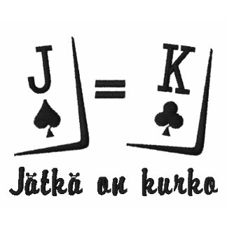 Pokeripaita Embroidered Shirt