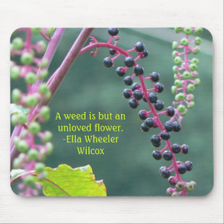 Pokeweed with Ripening Berries Mouse Pad