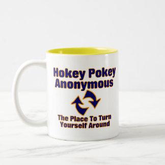 Pokey de Hokey anónimo Taza Dos Tonos