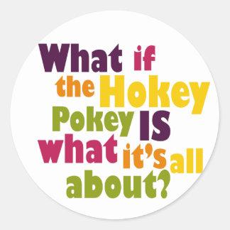 Pokey de Hokey Pegatina Redonda