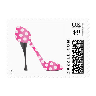 Pokey Dotted High Heel Postage Stamp