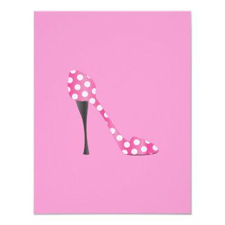 Poky Dot High Heel Card