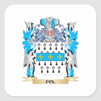 Pol Coat of Arms - Family Crest Square Sticker