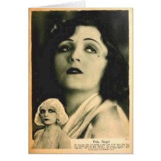 Pola Negri 1928 glamour portrait Greeting Card