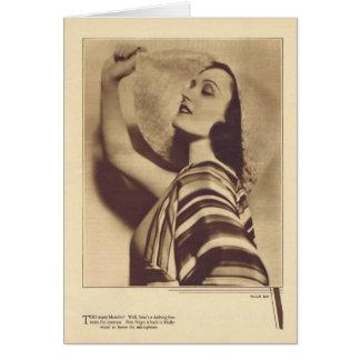 Pola Negri 1931 vintage portrait card