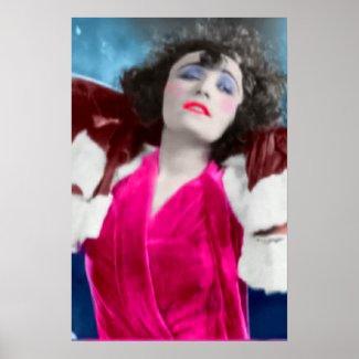 Pola Negri Silent Film Star Vintage Poster