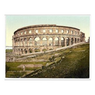 Pola, the arena, Istria, Austro-Hungary rare Photo Postcard