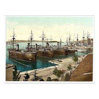 Pola, the Navy Yard, Istria, Austro-Hungary rare P Postcard