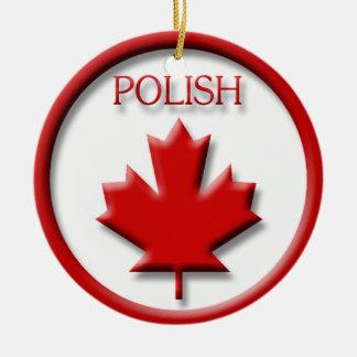 Polaco de Canadá Adorno Navideño Redondo De Cerámica