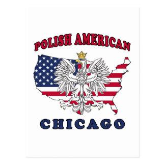 Polaco de Chicago Illinois Tarjetas Postales
