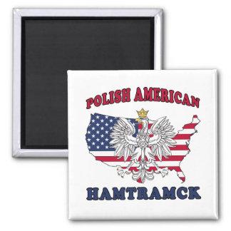 Polaco de Hamtramck Michigan Imán Cuadrado