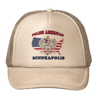 Polaco de Minneapolis Minnesota Gorros Bordados