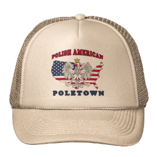 Polaco de Poletown Michigan Gorro De Camionero