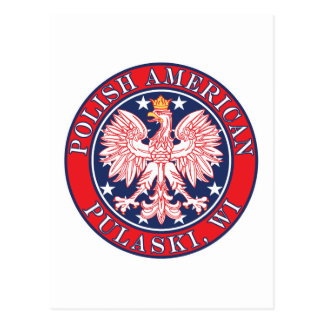 Polaco de Pulaski Wisconsin Tarjeta Postal