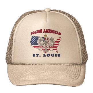 Polaco de St. Louis Missouri Gorras
