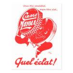 Polaco de zapato retro del kitsch 60s Cirage Mayol Postal